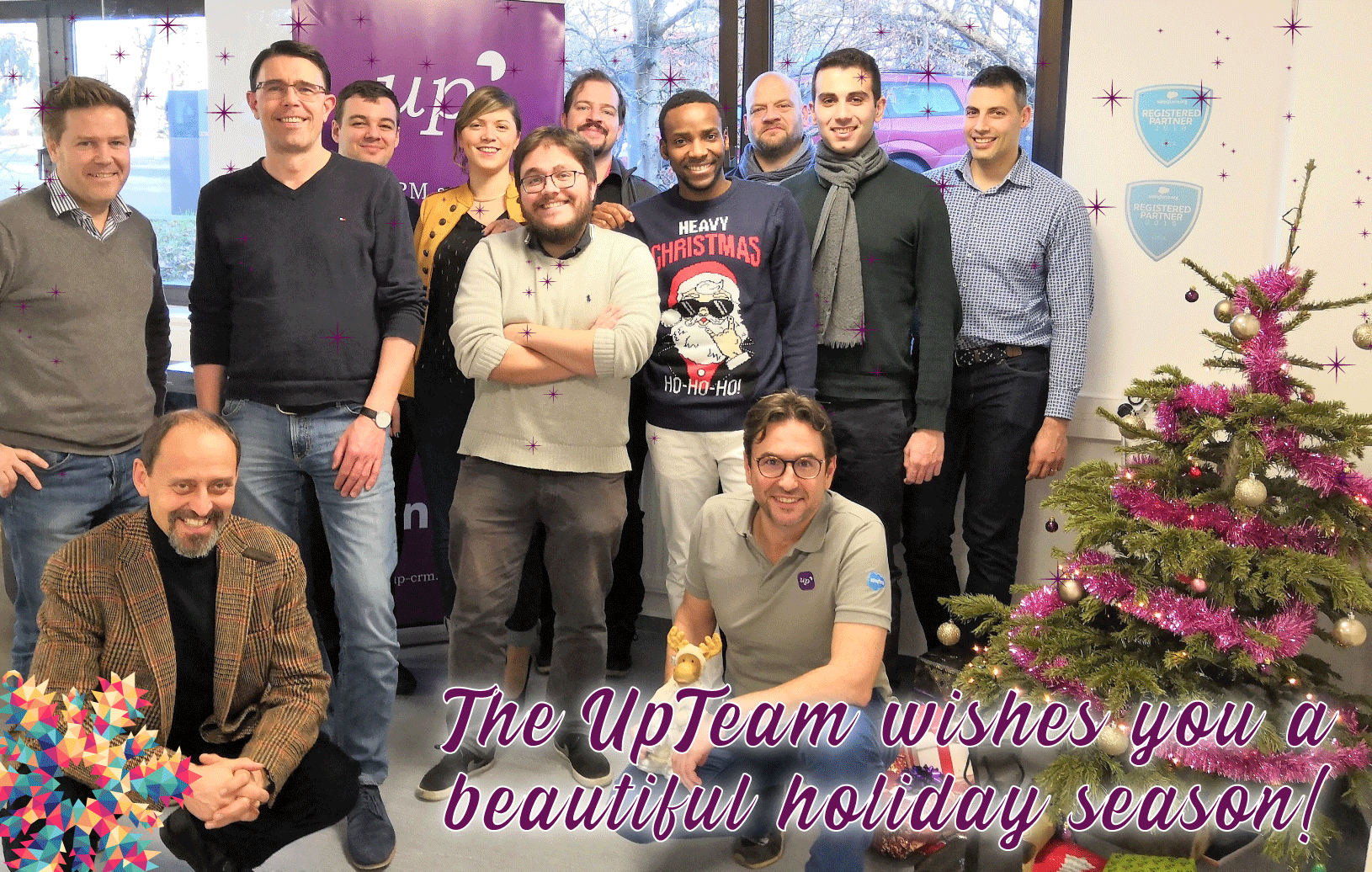 The UpCRM Team would like to wish you a great year ahead & e Gudde Rutsch!